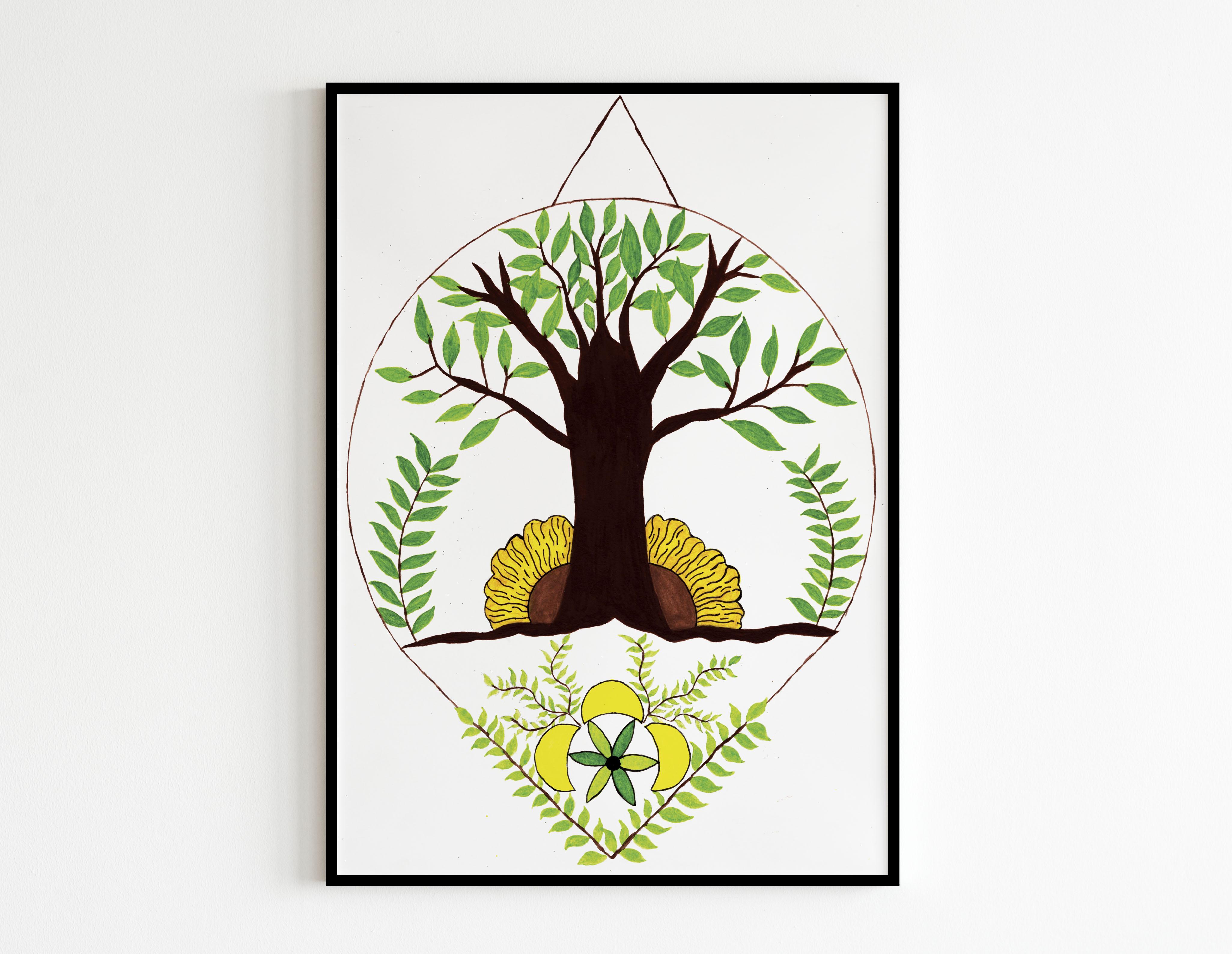Arbre nature blanc - MES CRÉATIONS