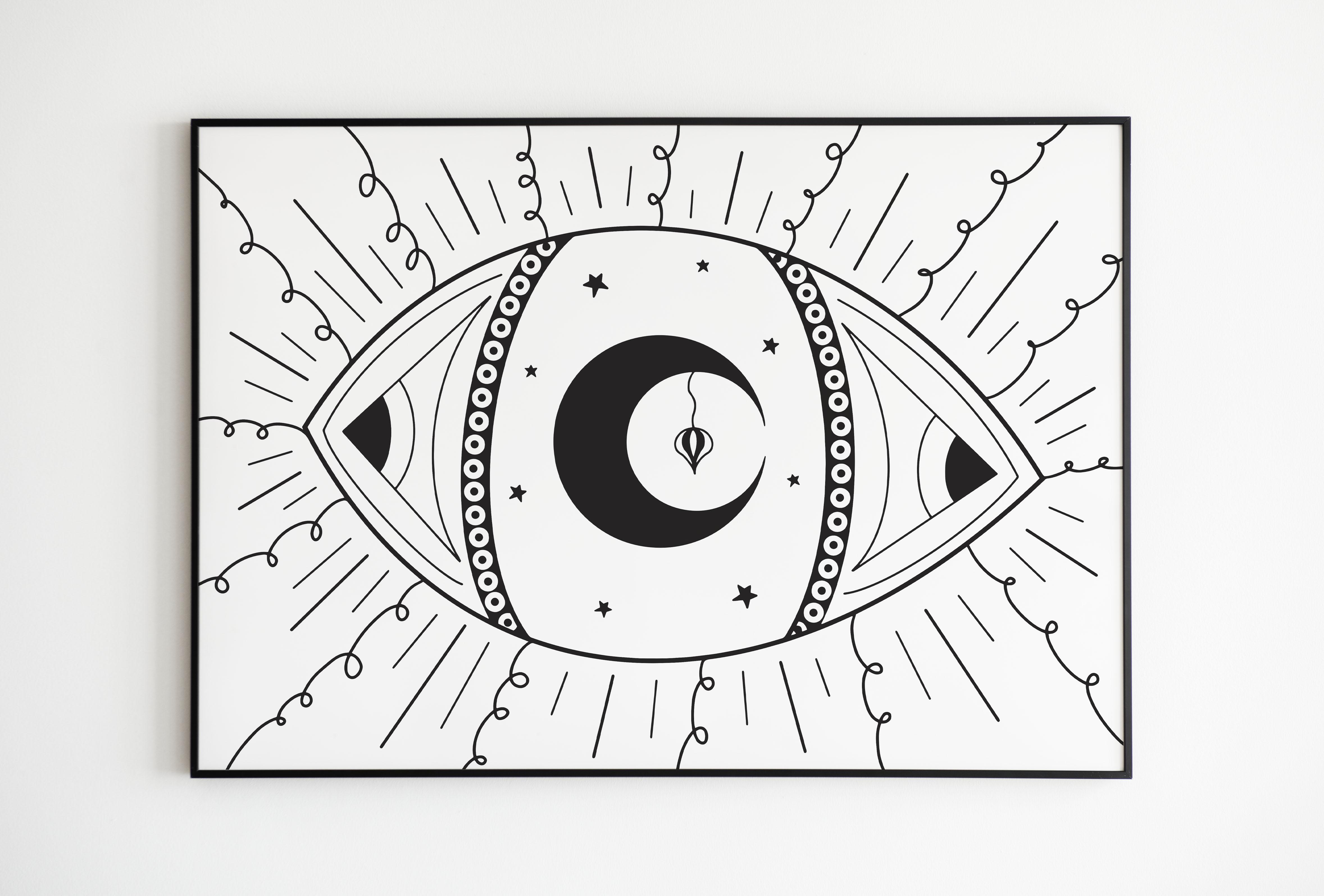 Vision céleste avec cadre noir - MES CRÉATIONS
