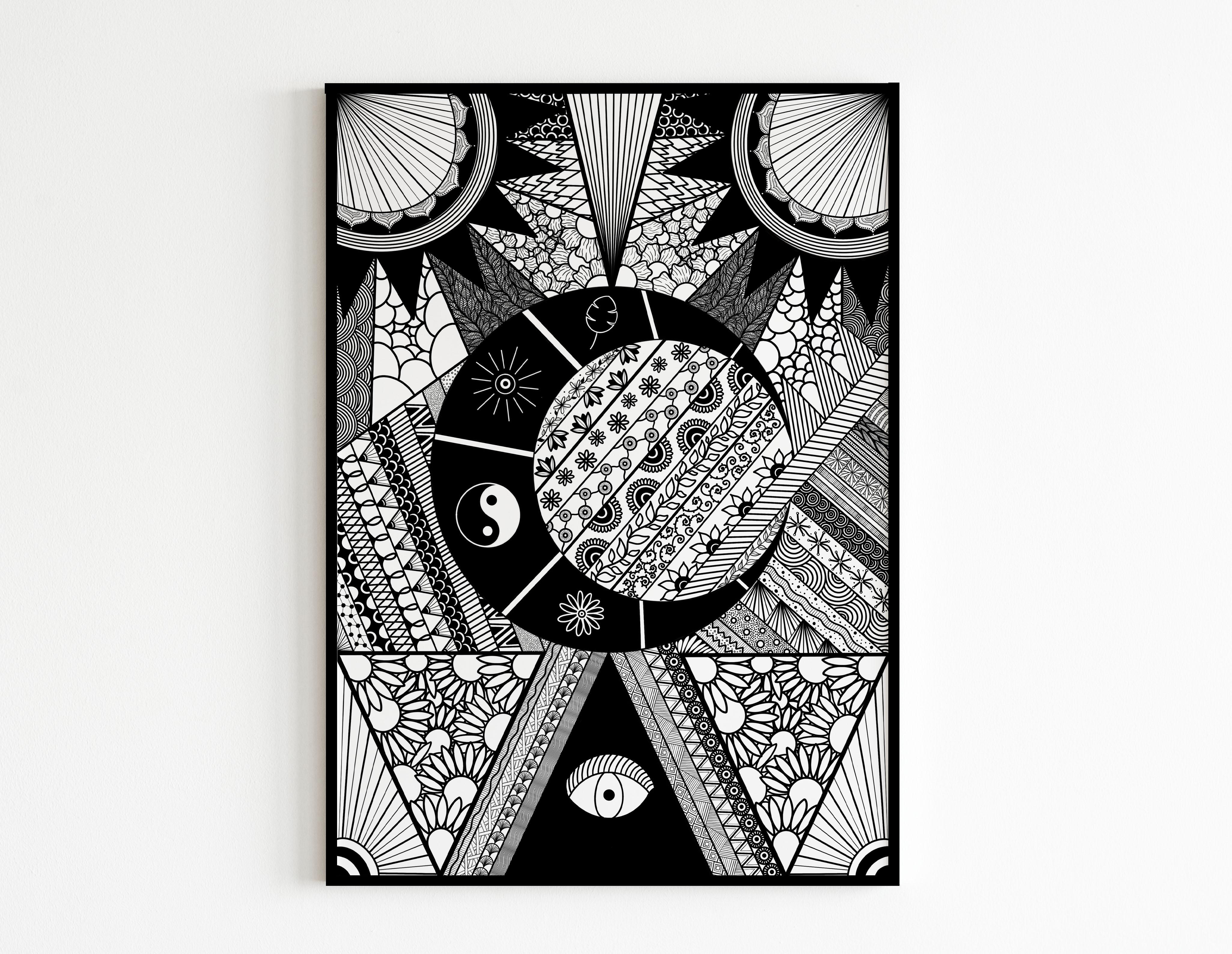 Zentangle Noir et Blanc - MES CRÉATIONS