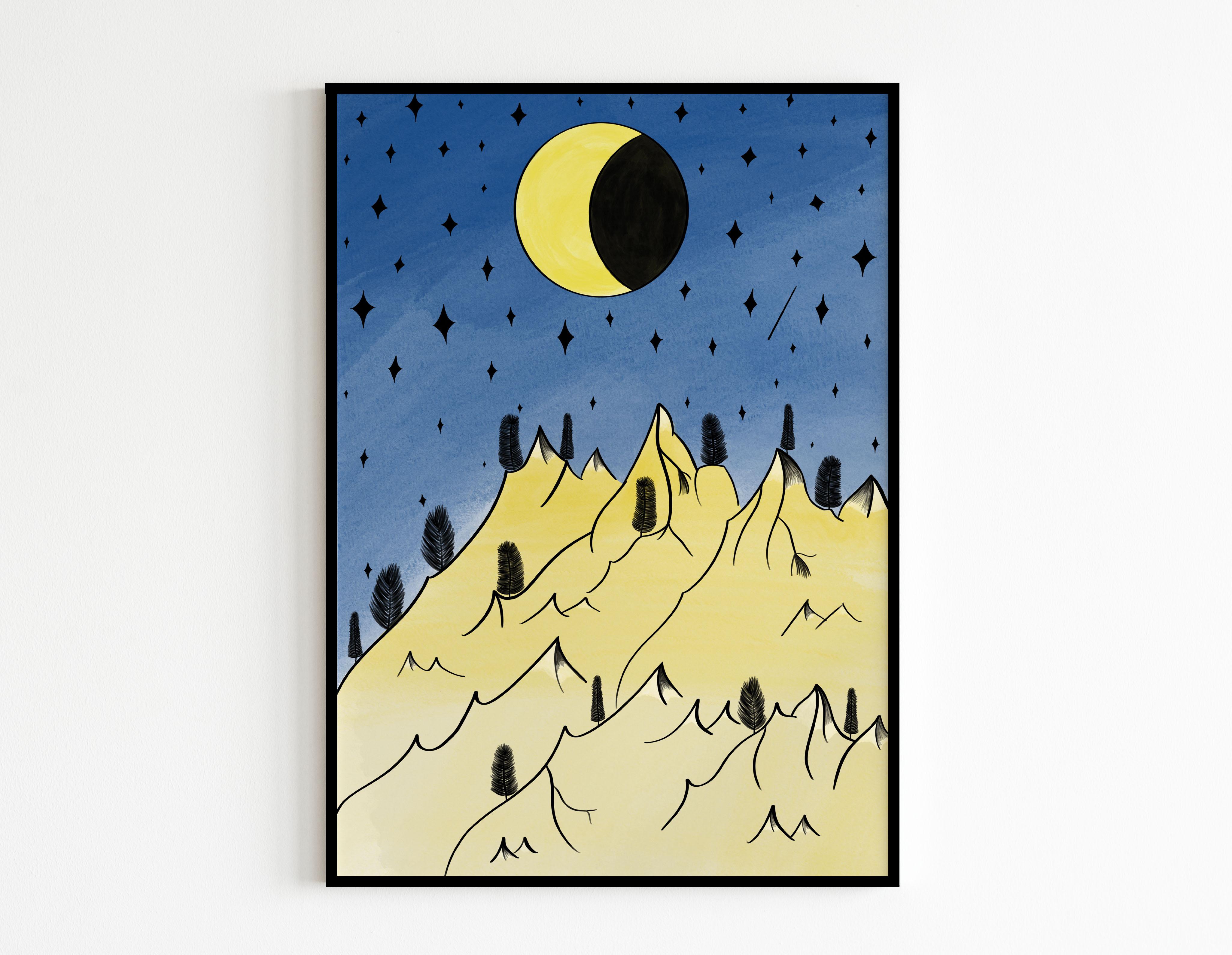 mountains luna - MES CRÉATIONS