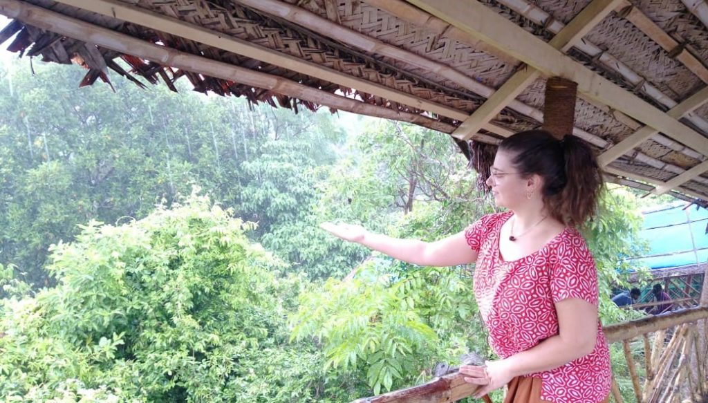 voyageuse en Inde